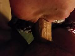 Pretty Mature BBW Deepthroats Young Cock
