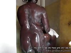 2 Ugandan lesbian take a soapy shower