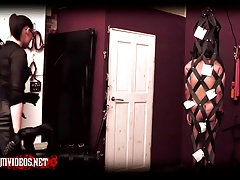 Mistress Krush - Whipping in the strapcage