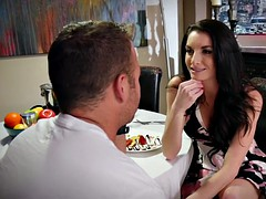 Watch Chad White pounds Silvia Saige tight wet pussy