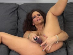 Busty webcam whore Syren De Mer toys her twat for all to see