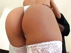 Blonde White Business Lady With Black Lover   Interracial