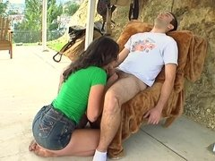 Sexy farm girl rides her man and then he rides her sexy ass