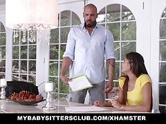 MyBabySittersClub - Cute Teen Babysitter Fucks Teacher