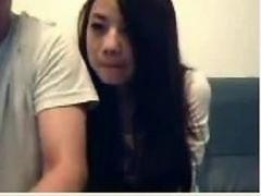 Chinese Couple Mess Around On Live camera