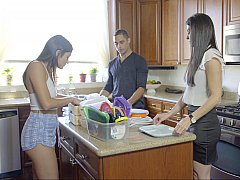 18 años, Dormitorio, Hija, Coño, Adolescente