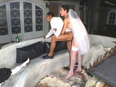 Transsexual bride love poles