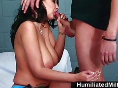 HMilfs - Big tits in a jail cell gets slammed by hard cock.