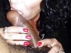 mature sucks a black dick off