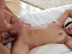 Amazing boobs Megan Salinas pussy nailed by handsome dude