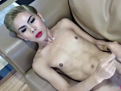 Thai Femboy Cyndi Jerking Off Solo