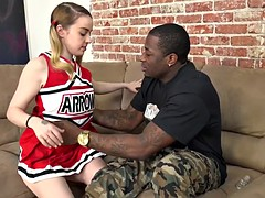 Alexia Gold interracial fuck in  front of her dad