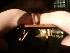 The fucking chair - straight guy impaled in the sun with ass-to-mouth (a2m)