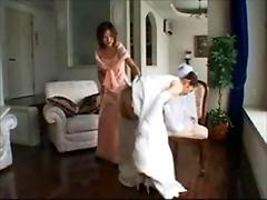 wedding dress spanking