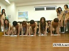 Japanese Nudist Students Kinky Blowjob Cleaning Game