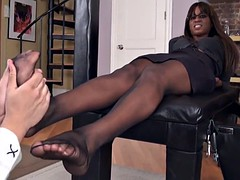 Black mistress white slave