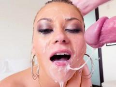 Slut gets throat fucked