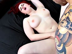 PURE XXX FILMS Busty Redhead Jaye Rose wakes up in