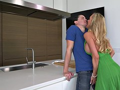 Brandi Love and Katy Kiss shared a cock