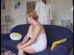German Rotund Wife And plus Salesman