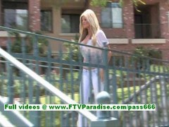 Taryn bigtitted lovely blonde flashing boobs & posing in the wonderful outdoor