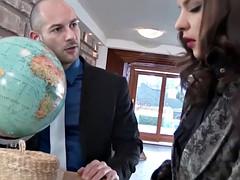WAM european officebabes sharing a facial