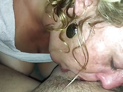 Nasty wife sucking cock