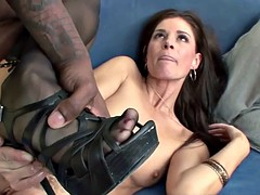 Mature hottie India Summer is fucking a big black cock