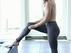 Morena, Linda, Flexible, Pequeña, Pelirrojo, Flaco, Adolescente, Apretado