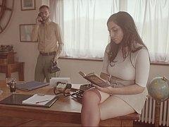 美人, レトロ, スカート, ヴィンテージ