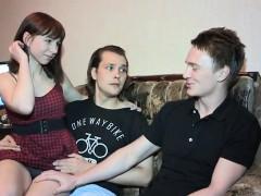 Enthousiasteling, Pijpbeurt, Bruinharig, Man die toekijkt, Russisch