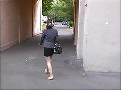 She goes through life barefoot