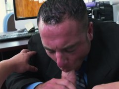 Straight guy being sucked by a old old grandpa and broke str