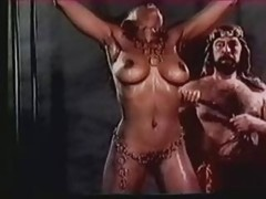 Sizeable Titted Harem Slave Receives An Extreme Whipping (in slow motion)