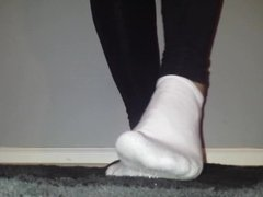 Sexy White Ankle Sock Play