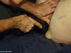 Cheap $10 street hooker Ahleah getting pounded with dildos