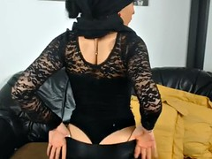 Islamic middle-eastern girls in leather fetish dance