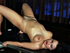 Naughty Brunette Gets Whole Body Whipping