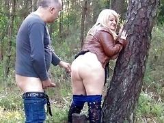 Big Ass Daniella gets creampie outdoors