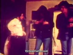 creampie threesome with a midget boy (vintage 1970)