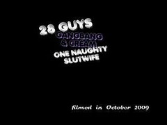 28 dudes gang-fuck and furthermore cream one whore