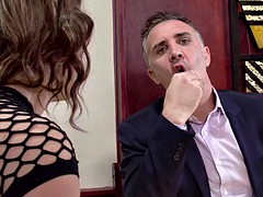 Dude bangs his favourite pornstar in restaurant