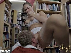 Bespectacled nerd fucks beautiful librarian during operation