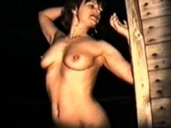 Yvonne naked outside at night