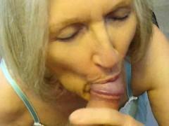 nasty cum slut sue palmer sucking cock and using toy