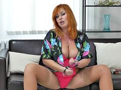 Big titted milf Alex finger fucks her insatiable cunt