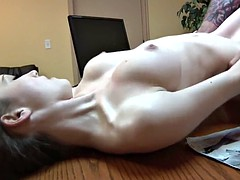Skinny Teen Slut fucked in the Office