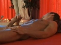 Hunk Stretches His Penis Out