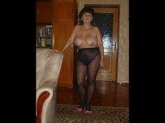 My wife in pantyhose
