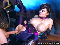 Big tits Widowmaker gets pussy owned by big fat dick Reaper